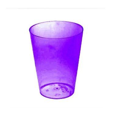 Copo-Agua---Refrigerante---200-ml---acrilico-cristal---Roxo---pacote-10-unidades