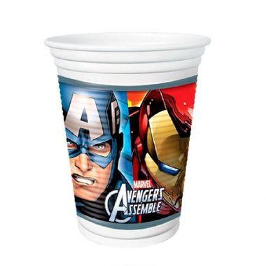 Copo-Os-Vingadores---The-Avengers-Assemble---plastico-descartavel---200ml---08-unidades