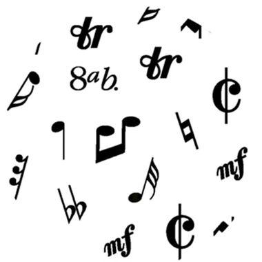 Folha-E-V-A--Estampado---borracha---60-x-40-cm---Notas-Musicais-Branco---pacote-05-unidades