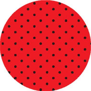 Folha-E-V-A--Poa---borracha---60-x-40-cm---Vermelho-com-Preto---pacote-05-unidades
