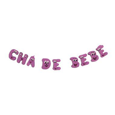 Frase-Carinhas---CHA-DE-BEBE---e-v-a----Rosa---unidade