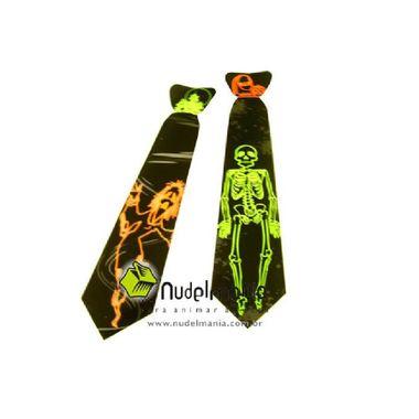 Gravata-Halloween---neon---cartonagem-250-g-brilhante---modelos-sortidos---Pacote-10-unidades