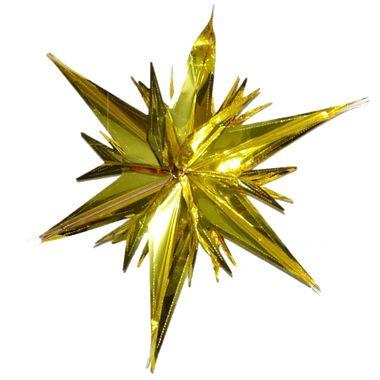 Guirlanda-Metalizada-Estrela-3D-Pequena---COR-OURO