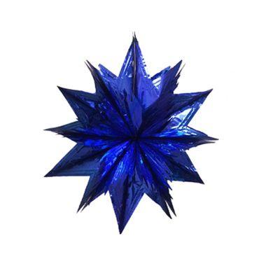 Guirlanda-Metalizada-Estrela-3D-Pequena---Cores-Sortidas---unidade