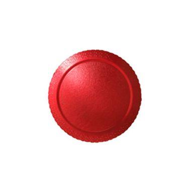 Cakeboard-Redondo-28-cm----Laminado-Vermelho---unidade
