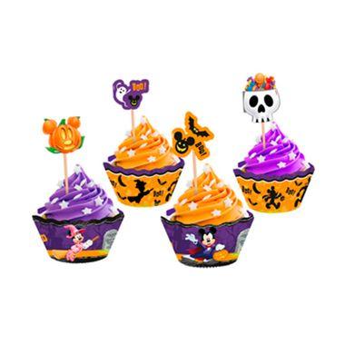 Cupcake-Wrapper-Halloween-Disney---Saia-Cupcake---pacote-12-unidades
