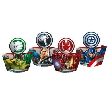 Cupcake-Wrapper-Os-Vingadores-2---Avengers-Age-Of-Ultron---Com-enfeite---12-unidades