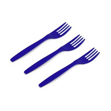 Garfo-Sobremesa-Kaixote---plastico---Azul-Escuro---pacote-50-unidades