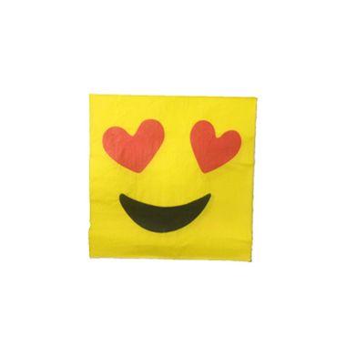 Guardanapo-Emoji-Heart-Eyes-33-x-33-cm-Importado---20-unidades