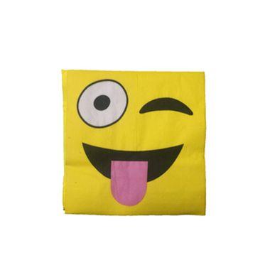 Guardanapo-Emoji-Winking-33-x-33-cm-Importado---20-unidades