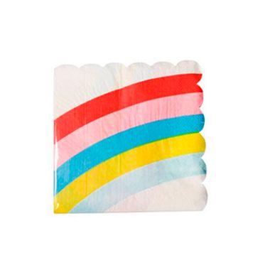 Guardanapo-Waves-Arco-Iris-33-x-33-cm-Importado---20-unidades