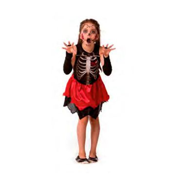 Fantasia-Halloween-Esqueleta-Class-Longa-c--Saia---infantil---tamanho-P---unidade