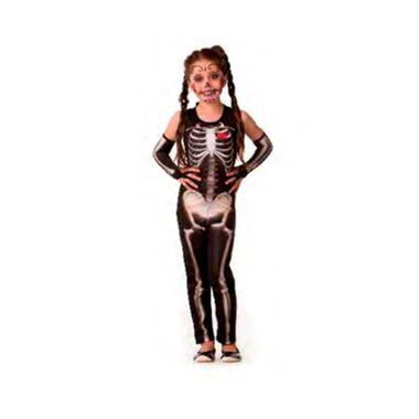 Fantasia-Halloween-Esqueleta-Class-s--Manga---infantil---tamanho-G---unidade