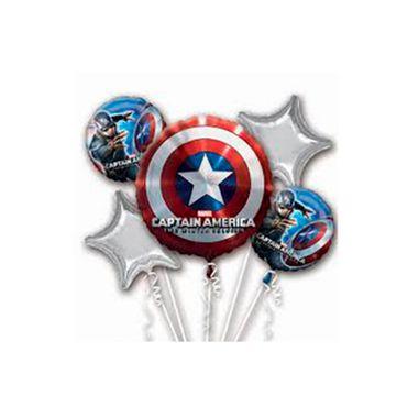 Balao-Bouquet-Capitao-America---metalizado---kit-5-baloes---embalagem