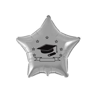 Balao-Formatura-20----Estrela---metalizado---Prata---unidade