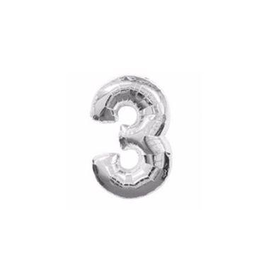 Balao-Numero-3-metalizado-10--Prata-unidade