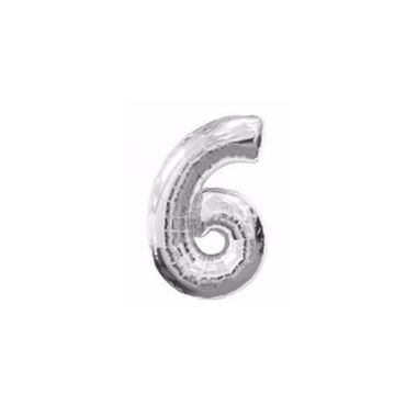 Balao-Numero-6-metalizado-10--Prata-unidade