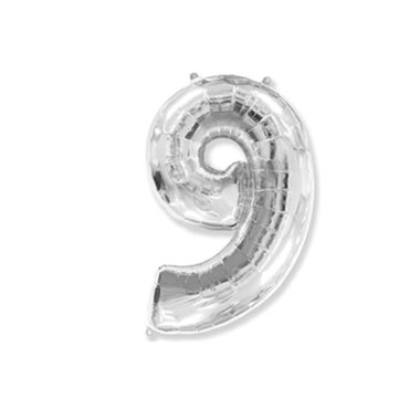 Balao-Numero-9-Baby-Metalizado-Prata-Unidade
