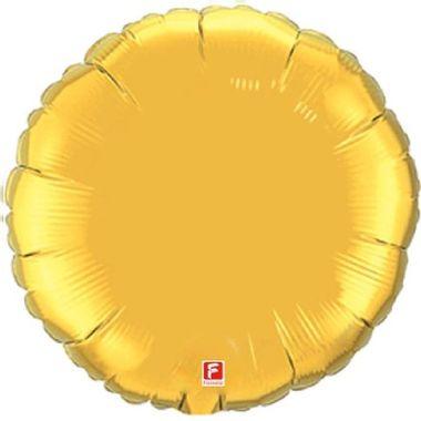 Balao-Redondo-20----metalizado---Dourado---unidade