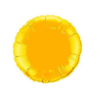 Balao-Redondo-9----metalizado---Dourado---unidade