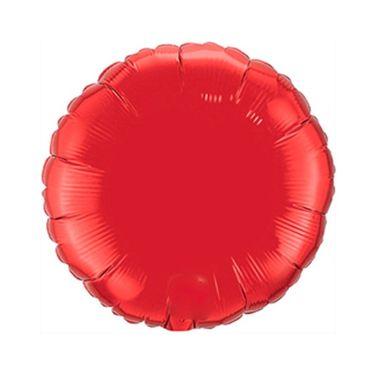Balao-Redondo-9----metalizado---Vermelho---unidade