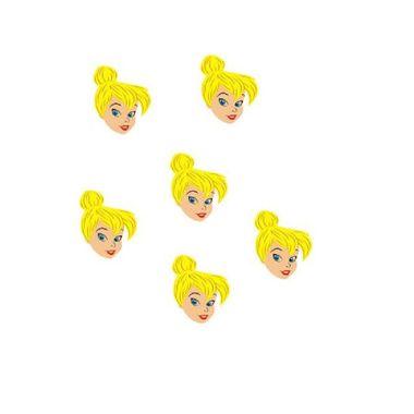 Aplique-Tinker-Bell---Sininho---Fadas---Mini-face---e-v-a----embalagem-06-unidades