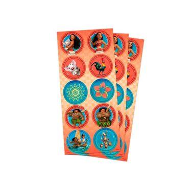 Adesivo-Decorativo---Moana---Redondo---03-cartelas-com-10-unidades-cada