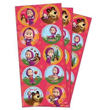 Adesivo-Decorativo-Masha-e-o-Urso---Redondo---03-cartelas-com-10-adesivos-cada