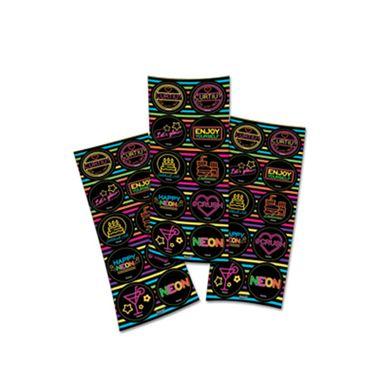 Adesivo-Decorativo-Neon---3-cartelas-com-10-adesivos-cada