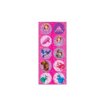 Adesivo-Decorativo-Princesinha-Sofia---Redondo---pacote-03-cartelas