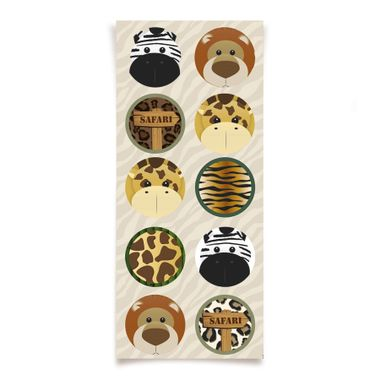 Adesivo-Decorativo-Redondo-Safari---30-unidades
