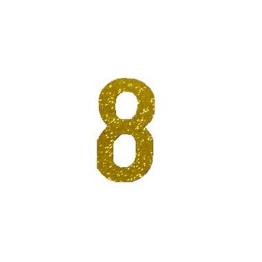 Aplique-Adesivo-Numero-8---Dourado---e-v-a----embalagem-06-unidades