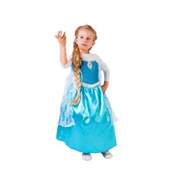 Fantasia-Elsa-Luxo---Frozen---Infantil-M