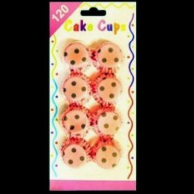 Forminha-para-Doces---Cake-Cups---estampas-sortidas---pacote-120-unidades-Poa-Rosa-com-Marrom