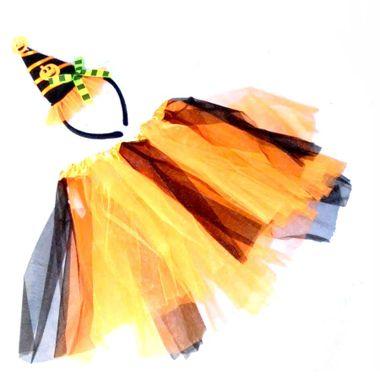 Kit-Bruxa-Halloween---infantil---Saia-e-Tiara---cores-sortidas---unidade-Laranja