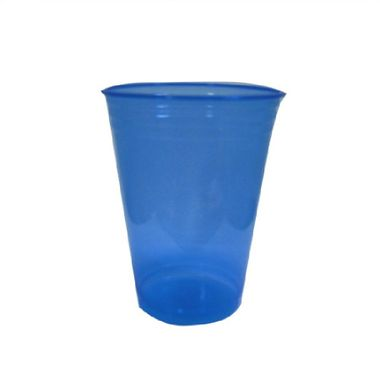 Copo-Balada---plastico-descartavel---Azul-Neon---300-ml---pacote-25-unidades