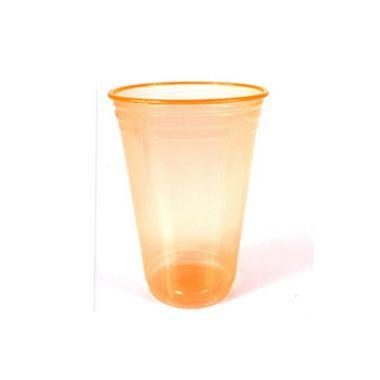 Copo-Balada---plastico-descartavel---Laranja-Neon---300-ml---pacote-25-unidades