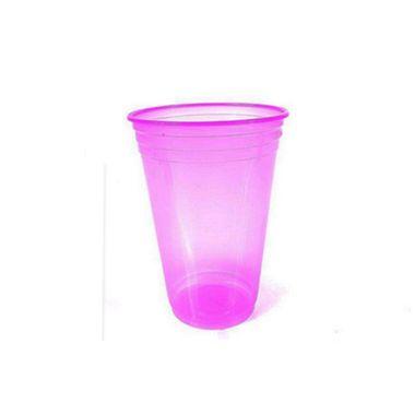 Copo-Balada---plastico-descartavel---Rosa-Neon---300-ml---pacote-25-unidades