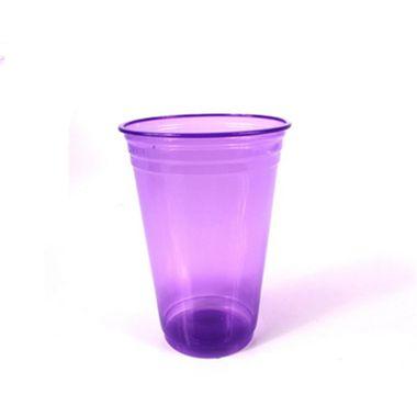 Copo-Balada---plastico-descartavel---Roxo-Neon---300-ml---pacote-25-unidades