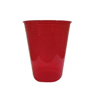 Copo-Balada---plastico-descartavel---Vermelho-Neon---300-ml---25-unidades