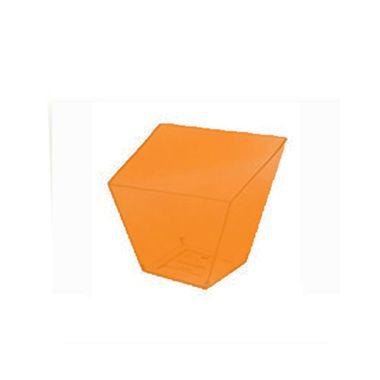 Copo-Italiano-40-ml---Laranja-Neon---embalagem-10-unidades