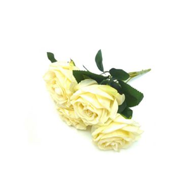 Buque-6-Rosas-de-Tecido-37-cm---Creme---unidade