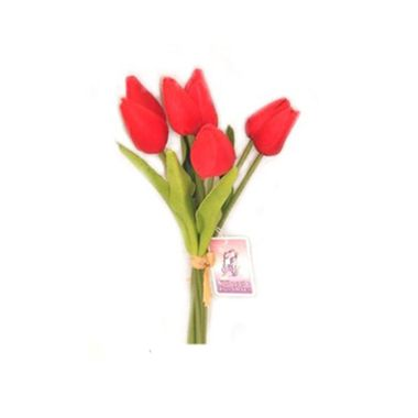 Buque-8-Tulipas-de-Tecido-26-cm---Vermelha---unidade