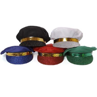 Chapeu-Marinheiro-Luxo---aba-purpurinada---cores-sortidas---unidade-Branco