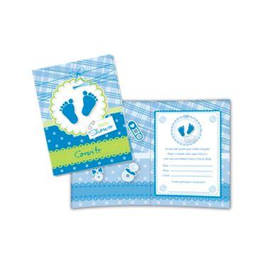 Convite-Baby-Shower---Cha-de-Bebe---Azul---08-unidades