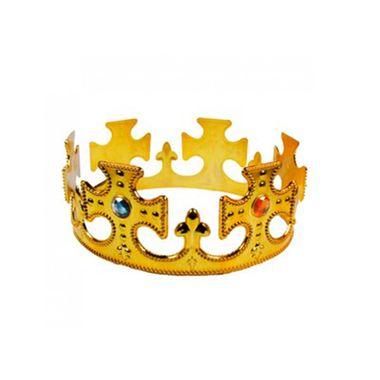 Coroa-Rei-Salomao---plastico---Dourada---modelos-sortidos---unidade