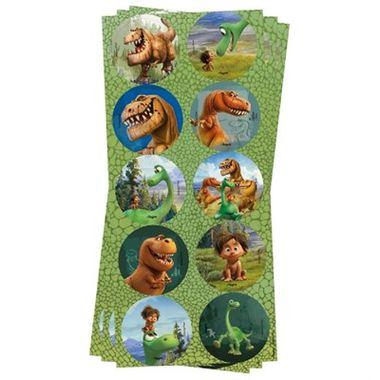 Adesivo-Decorativo---O-Bom-Dinossauro---Redondo---03-cartelas-com-10-unidades-cada