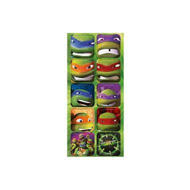 Adesivo-Decorativo-Tartarugas-Ninjas---3-cartelas-com-12-unidades-cada