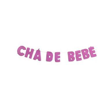 Frase-Lisa---CHA-DE-BEBE---e.v.a.---cor-ROSA---unidade