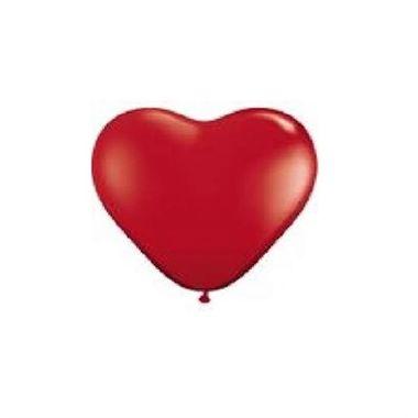 Balao-Coracao-6----latex---Vermelho---pacote-50-unidades